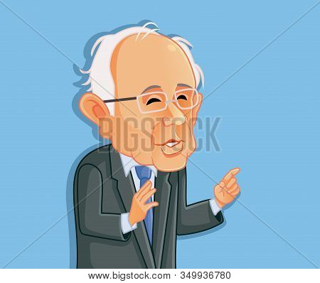 Washington¸ Usa, February 8, Bernie Sanders Vector Caricature