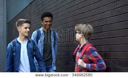 Arrogant High School Students Mocking Younger Boy, Verbal Abuse, Bullying