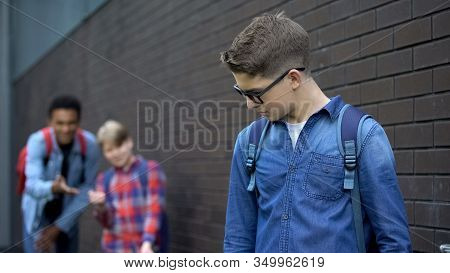 Teenagers Mocking Boy In Eyeglasses, Spreading Malicious Rumors, Verbal Bullying