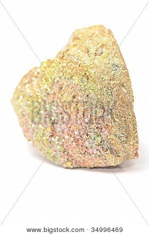 Marcasite Mineral Isolated On A White Background