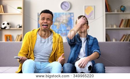 Overemotional Teenagers Upset With National Soccer Team Losing Game Unfair Judge
