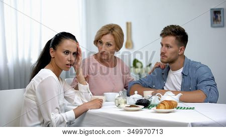 Serious Mother Teaching Daughter-in-law To Behave, Sissy Boy, Family Relations