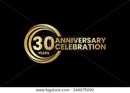 Anniversary Logo Template Design Birthday Celebration, Golden Anniversary Emblem, Design For Booklet