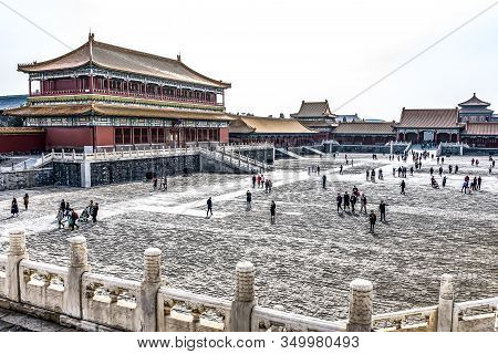 24.02.2019 Bejing China - The Forbidden City Is The Chinese Imperial Palace From The Ming Dynasty