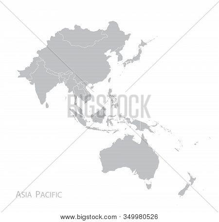 Map Of Asia Pacific. Bangladesh, Bhutan, Brunei Darussalam, Cambodia, China, Mainland China, Taiwan