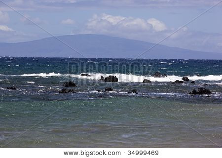 Blue Waters Off The Coast Of Maui