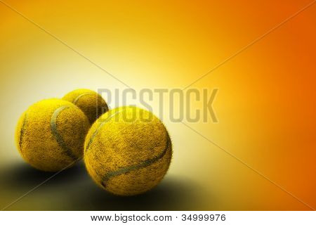 Background with tennis ball