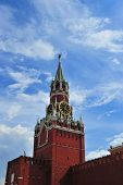 Clock of the Kremlin in Moscow, Russia (Spasskaya tower) poster