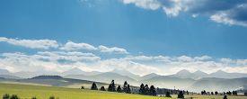 Tatra Mountains Landscape In Summer, Poland. Rural Landscape