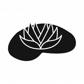 Vector Design Of Flower And Lotus Symbol. Set Of Flower And Leaf Stock Vector Illustration.