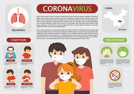 Coronavirus 2019-ncov Flu Infographics Elements, Health And Medical. Dangerous Asian Ncov Corona Vir