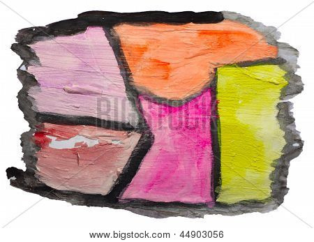 art yellow orange purple watercolor isolated for your design