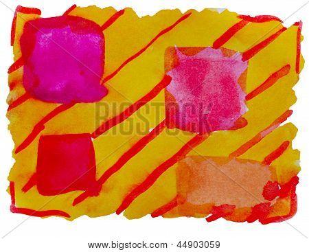 art yellow orange vanguard watercolor isolated for your design