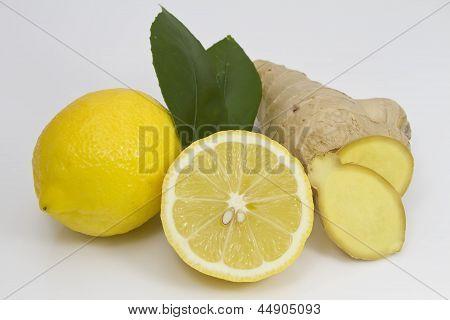 Lemon and Ginger Root