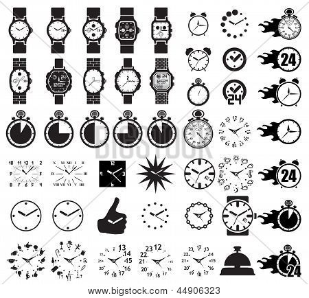Icon set clocks
