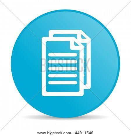 document blue circle web glossy icon