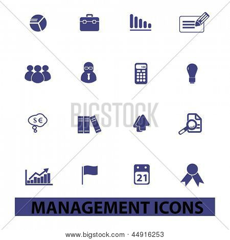 management, human resources, organisation icons, signs set, vector