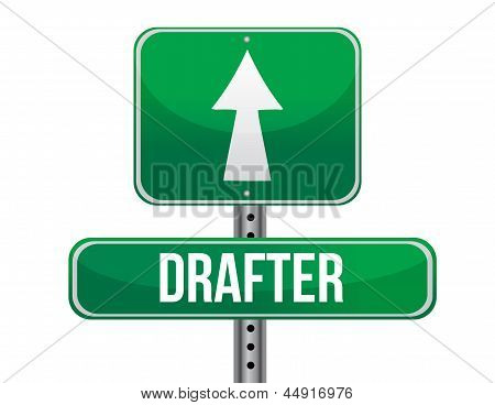 Drafter Road Sign Illustration Design