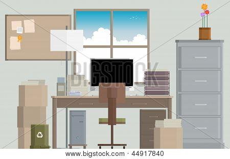 Crowded Work Desk