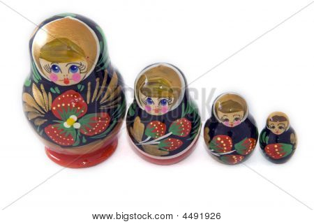 Russian Dolls Standing In A Row