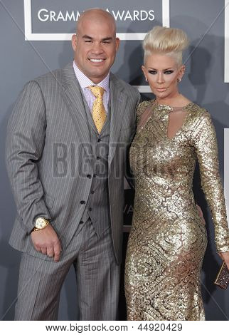 LOS ANGELES - FEB 10:  Tito Ortiz & Jenna Jameson arrives to the Grammy Awards 2013  on February 10, 2013 in Los Angeles, CA.