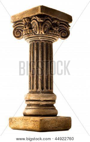 Column on white background