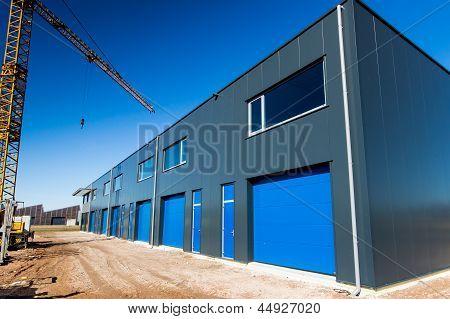 Construction Site Building New Warehouse Unit