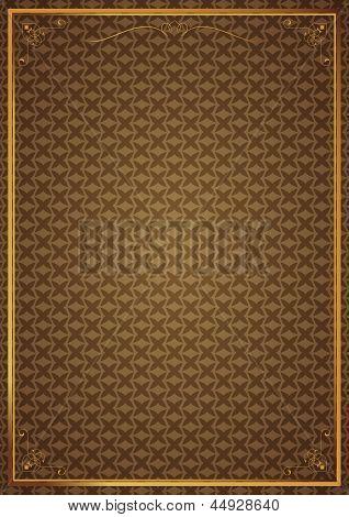Corner patterns in brown wallpaper