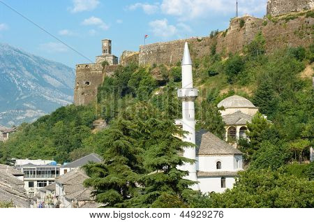 Teqe Mosque And Tower Clock in Gjirokaster, Albania
