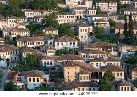 Gorica neighborhood of Berat, Albania poster