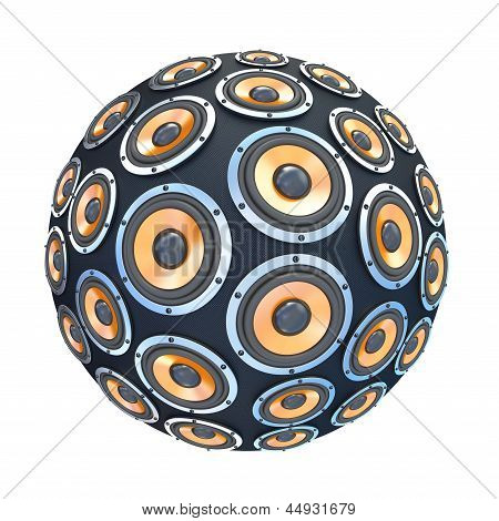 Speakers In Form Of Sphere Isolated