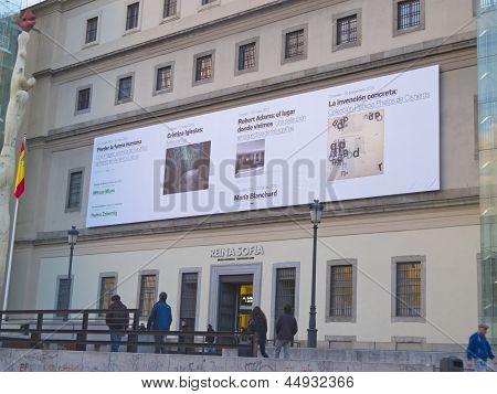 Entrance Of Reina Sofia Museum. Madrid