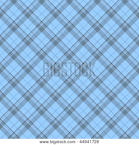 Blue Plaid textured Fabric Background that is seamless and repeats poster