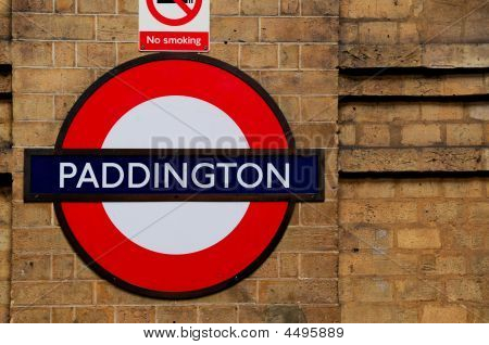 Paddington Subway Station Sign