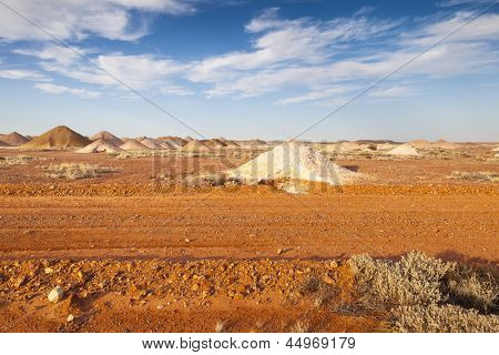 An image of the mining in Coober Pedy Australia