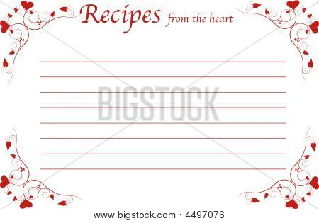 Recipe Card-recipes From The Heart