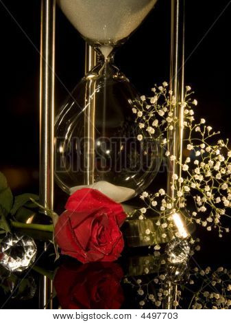 Hour Glass And Rose
