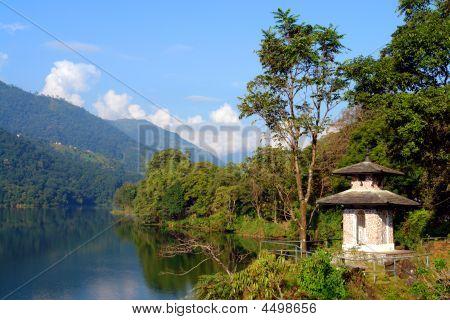 Phewa / Fewa Lake In The City Of Pokhara