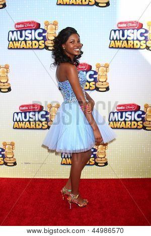 LOS ANGELES - APR 27:  Diamond White arrives at the Radio Disney Music Awards 2013 at the Nokia Theater on April 27, 2013 in Los Angeles, CA