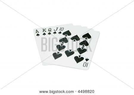 Playing Cards - Royal Flush - Spades