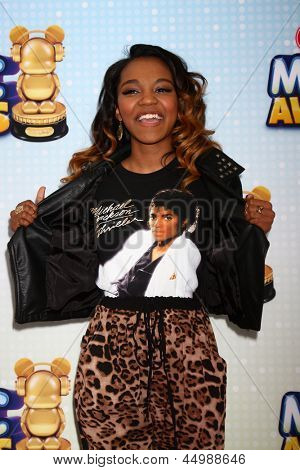 LOS ANGELES - APR 27:  China Anne McClain arrives at the Radio Disney Music Awards 2013 at the Nokia Theater on April 27, 2013 in Los Angeles, CA