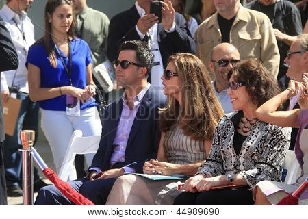 LOS ANGELES - APR 27:  Troy Garity, Maria Shriver, Lily Tomlin at the Jane Fonda Hand and FootPrint Ceremony at the Chinese Theater on April 26, 2013 in Los Angeles, CA