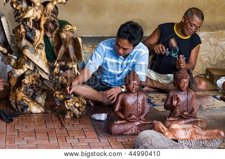 Men Are Making Wooden Crafts
