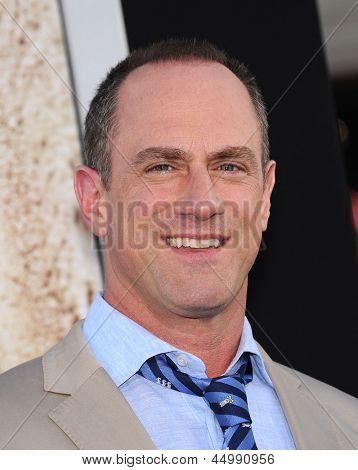 LOS ANGELES - APR 09:  Christopher Meloni arrives to the '42' Hollywood Premiere  on April 09, 2013 in Hollywood, CA