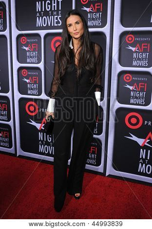 LOS ANGELES - APR 24:  Demi Moore arrives to the AFI Night At The Movies 2013  on April 24, 2013 in Hollywood, CA