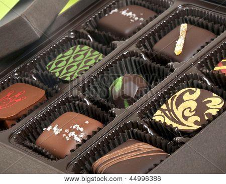 Box of chocolate candies