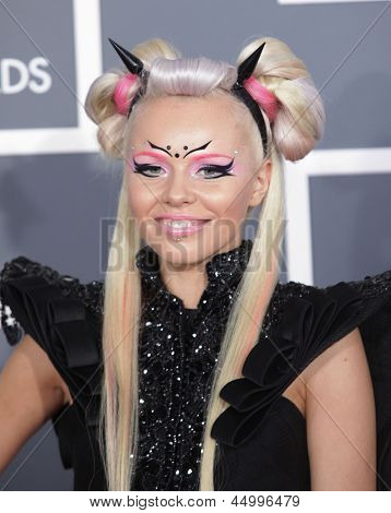 LOS ANGELES - FEB 10:  Kerli arrives to the Grammy Awards 2013  on February 10, 2013 in Los Angeles, CA.