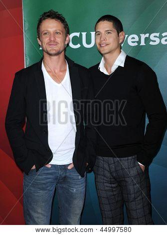 LOS ANGELES - JAN 06:  David Lyons & JD Pardo arrives to the NBC All Star Winter TCA 2013  on January 06, 2013 in Pasadena, CA