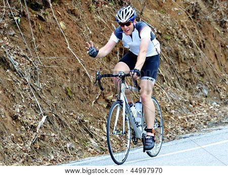 Man in a Bike Race