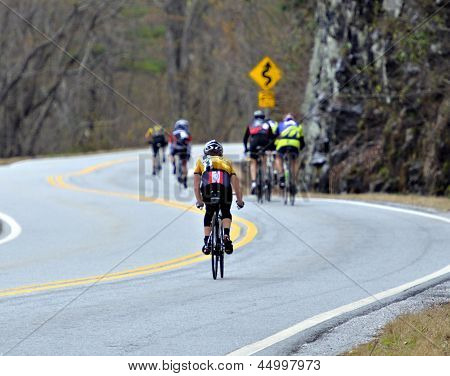 Men in a Bicycle Race